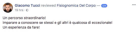 Recensione Fisiognomica Giacomo
