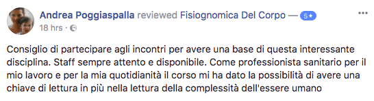 Recensione Fisiognomica Andrea Poggiaspalla
